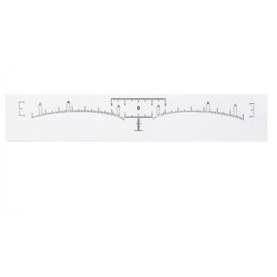 Eyebrow shape ruler