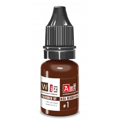 №1 WizArt USA Favored by OLGA NESMYAN pigment for permanent eyebrow makeup 10 ml