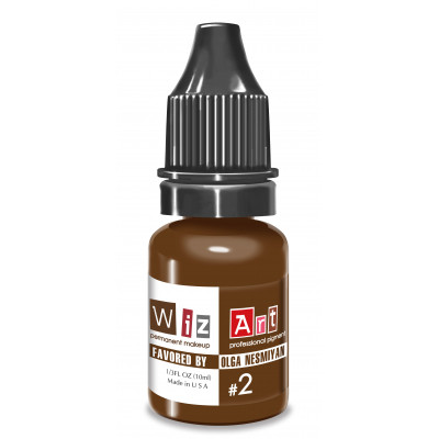 №2 WizArt USA Favored by OLGA NESMYAN pigment for permanent eyebrow makeup 10 ml