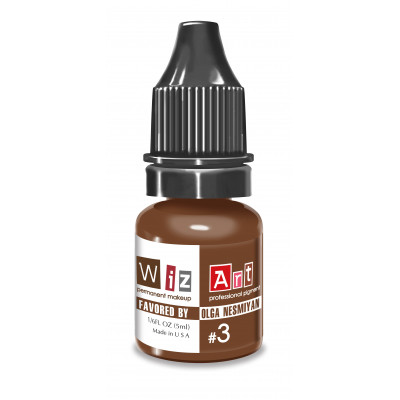 №3 WizArt USA Favored by OLGA NESMYAN pigment for permanent eyebrow makeup 10 ml