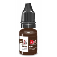 Medium WizArt USA pigment for permanent makeup eyebrows 10 ml