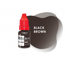 Black Brown WizArt USA pigment for permanent makeup eyebrows 10 ml