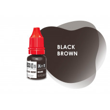 Black Brown WizArt USA pigment for permanent makeup eyebrows 5 ml