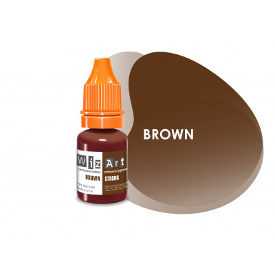 Brown WizArt USA pigment for PM eyebrows
