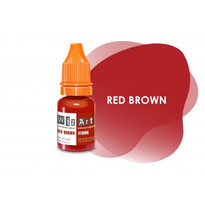 Red Brown WizArt USA пигмент для перманентного макияжа губ 10 мл